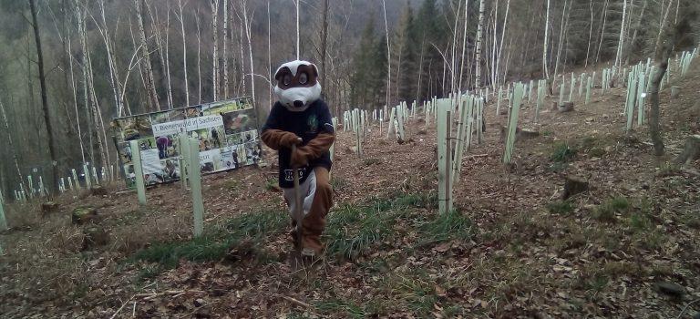Maskottchen Erdi zu besuch beim Landgut Kemper & Schlomski in Liebstadt